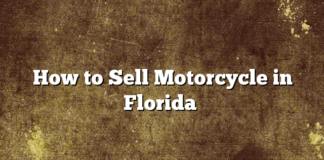 How to Sell Motorcycle in Florida
